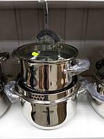 Набір каструль Benson BN-237 з нержавіючої сталі з 5 предметів