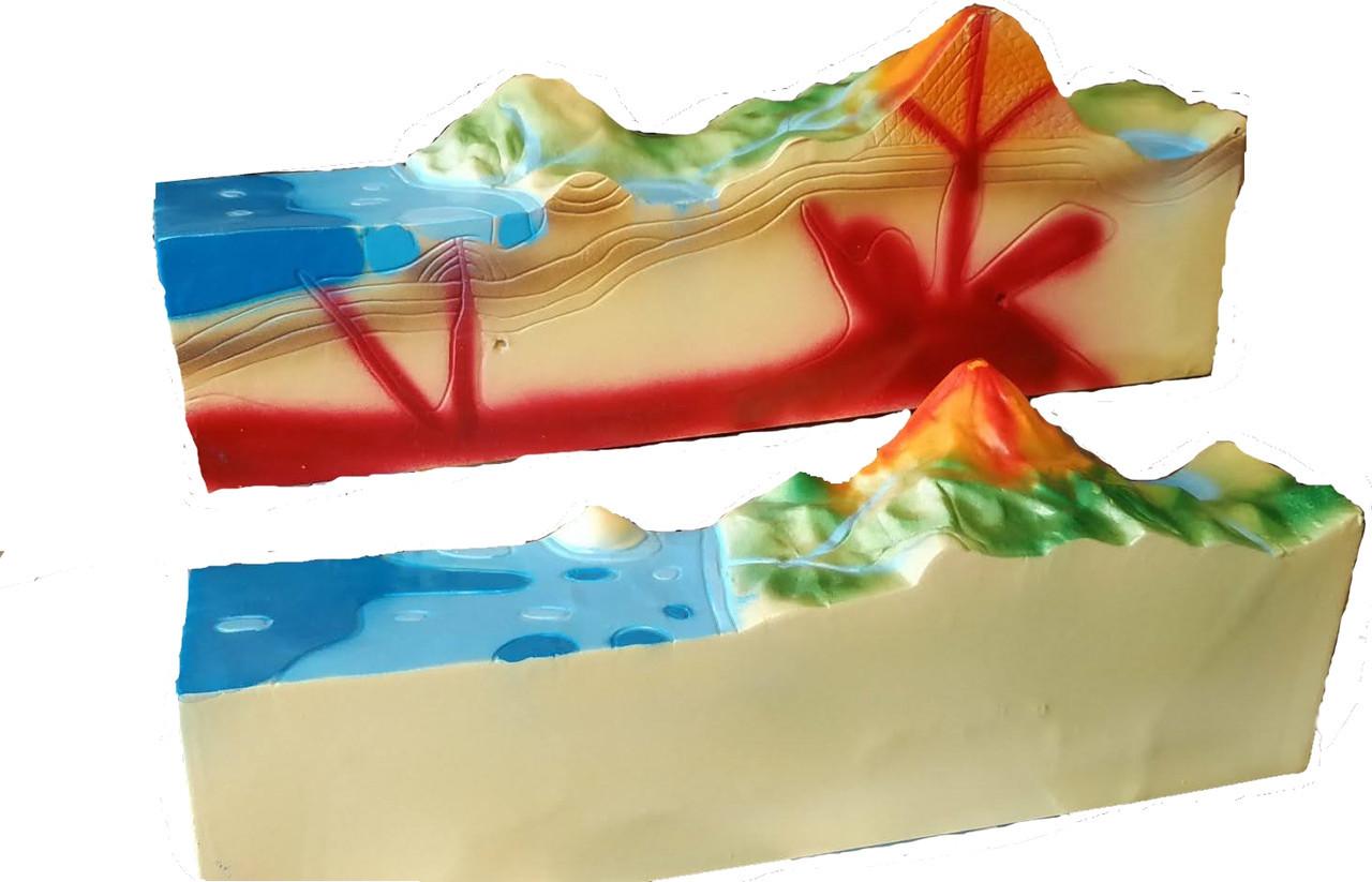 """Географічна модель """"Будова діючого вулкану"""""""