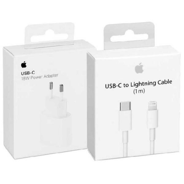 Мережевий зарядний пристрій Apple 18Wt USB Type-C/ Lightning 2in1 з кабелем