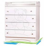 """Детский пеленальный стол """"Мишка"""" (пеленатор комод на 4 ящика)"""