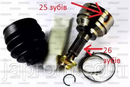 Граната (шрус) наружная правая левая Mazda 626 GD 25зуба * 26  Pascal G13005PC