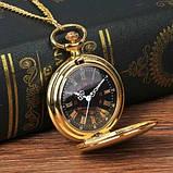 Кварцові кишеньковий годинник на ланцюжку, фото 2
