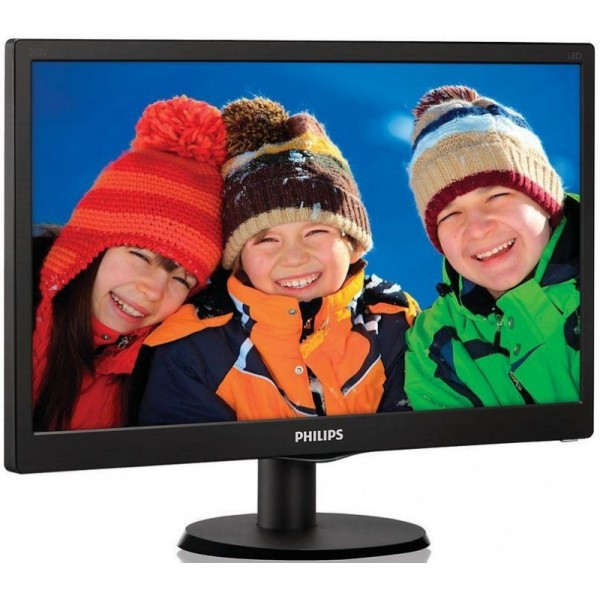 "Монитор Philips 21.5"" 223V5LSB/00 Black; 1920x1080, 250 кд/м2, 5 мс, DVI-D, D-Sub"