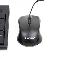 Комплект (клавиатура, мышь) Gembird KBS-UM-03-UA Black USB, фото 3