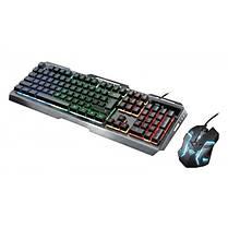 Комплект (клавиатура, мышь) Trust GXT 845 Tural RU (23411) Black USB, фото 2