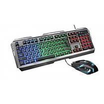 Комплект (клавиатура, мышь) Trust GXT 845 Tural RU (23411) Black USB, фото 3