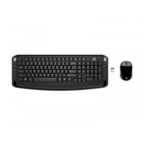 Комплект (клавиатура, мышь) беспроводной HP 300 (3ML04AA) Black USB