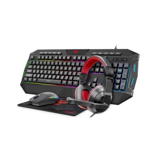 Комплект (клавиатура, мышь, коврик, наушники) Havit KB501CM (25538) Black/Grey USB