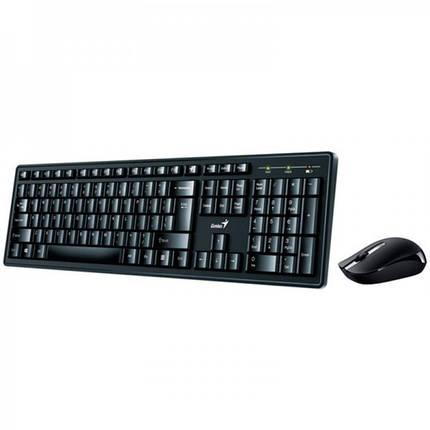Комплект беспроводной (клавиатура, мышь) Genius Smart KM-8200 (31340003410) Ukr Black USB, фото 2