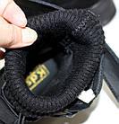Демисезонные женские спортивные ботинки черные из натуральной замши на платформе, фото 10