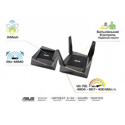 Беспроводной маршрутизатор Asus RT-AX92U 2 pack (AX6100, 4xGE LAN, 1xGE WAN, 1xUSB3.1, 1xUSB2.0, MU-MIMO, 6, фото 2