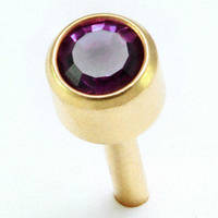 Сережки гвоздики (бижутерия) камень фиолетовый