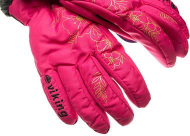 Рукавиці гірськолижні жіночі Viking Jaspis 6 XS Рожевий 46, фото 2