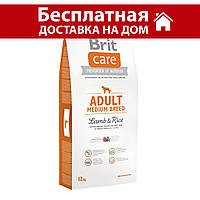 Brit Care Adult Medium Breed Lamb & Rice 12 кг - для  средних пород с ягненком