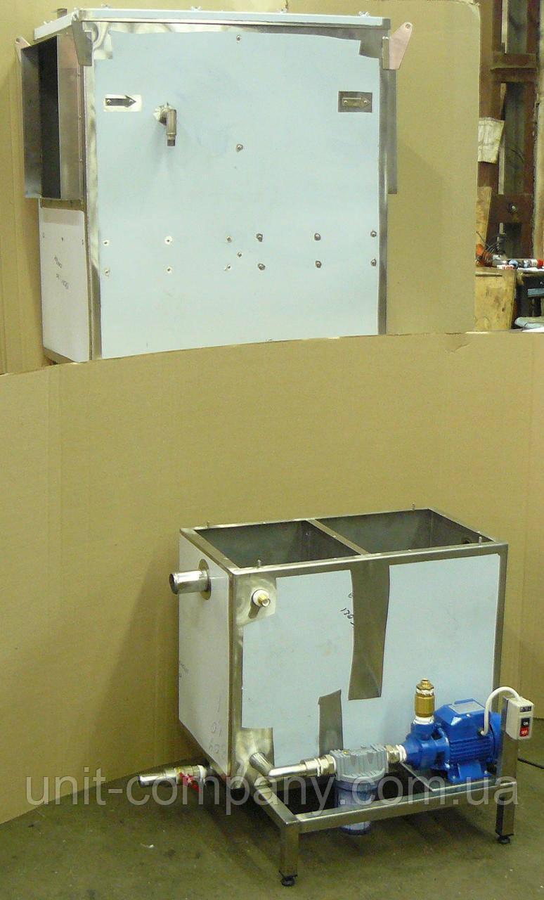 Гідрофільтр іскрогасник GF1,  гідрофільтр для печей-гриль, гідравлічний іскрогасник