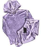 Лавандовая пижама, костюм для дома кофта и шорты.