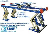Подъемник ножничный OMCN X-LINE series 5 для поста развал схождения.