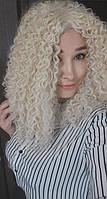Парик африканские кудри блонд 40 см., фото 1