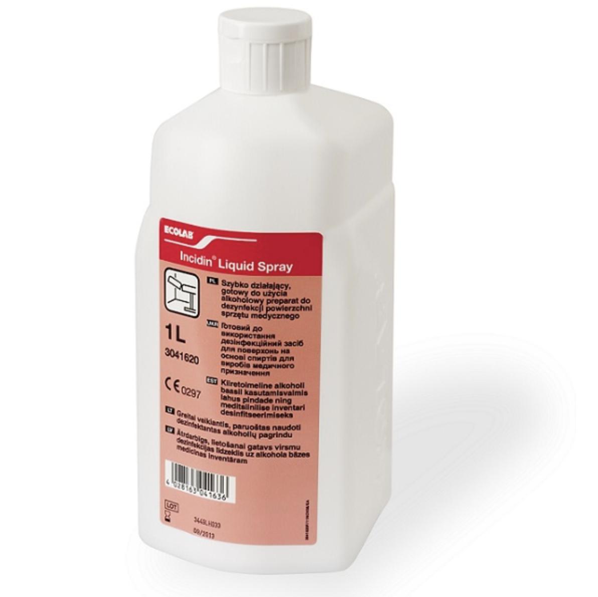 Инцидин Ликвид - быстродействующее спиртовое дезинфицирующее средство 1 л