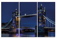 """Картина на стекле """"Тауэрский мост ночью"""""""