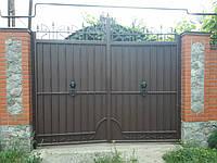 Кованые листовые ворота