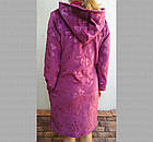 Халат женский на молнии с капюшоном из Well Soft, Украина, р54, цвета в ассортименте, 20030025, фото 3