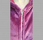 Халат женский на молнии с капюшоном из Well Soft, Украина, р54, цвета в ассортименте, 20030025, фото 4