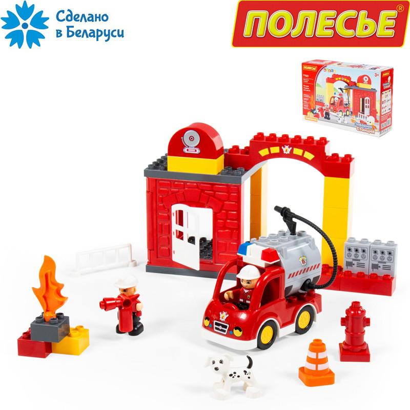 Конструктор пожарная станция, maxi, Полесье