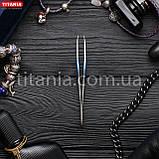 Пинцет косметический скошенный узкий из нержавеющей стали INOX TITANIA art.1090/60 В, фото 4