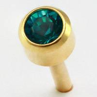Сережки гвоздики (бижутерия) камень бирюзовый