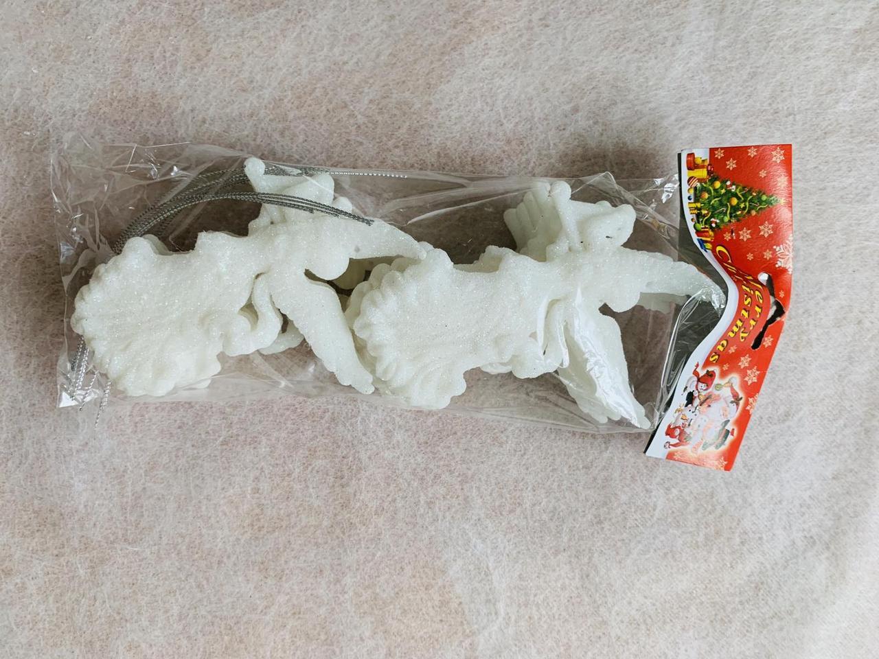 Іграшка новорічна ангел арфа 3D 10 штук