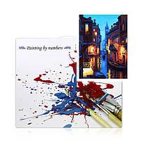"""Картина по номерам Lesko DIY E885 """"Ночная Венеция"""" набор для творчества на холсте 40-50см рисование, фото 3"""