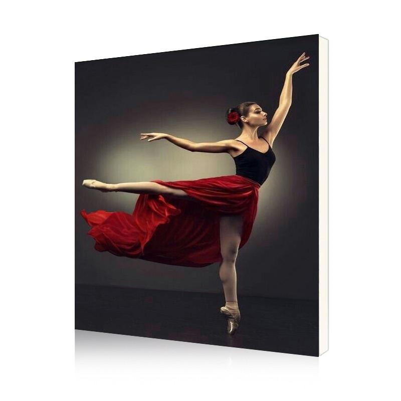 """Картина по номерам Lesko DIY PH9589 """"Восхитительный балет"""" набор для творчества на холсте 40-50см рисование"""