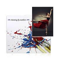 """Картина по номерам Lesko DIY PH9589 """"Восхитительный балет"""" набор для творчества на холсте 40-50см рисование, фото 3"""