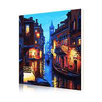 """Картина по номерам Lesko DIY E885 """"Ночная Венеция"""" 40-50см набор для творчества живопись"""
