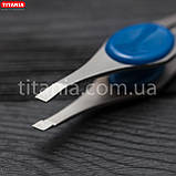 Пинцет косметический скошенный узкий из нержавеющей стали INOX TITANIA art.1090/60 В, фото 5