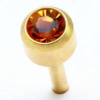 Сережки гвоздики (бижутерия) камень коричневый