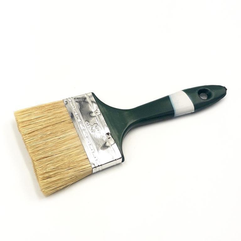 """Пензель плоский """"Англійська"""" 3,0"""" (75мм/12мм/51мм), натуральна щетина, пластикова ручка HTools, 93K530"""