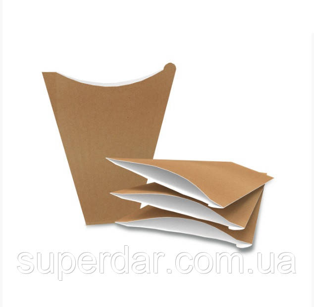 Упаковка 180х145х0 мм для блинов макси Крафт (ящ.: 1000 шт)