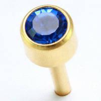 Сережки гвоздики (бижутерия) камень синий