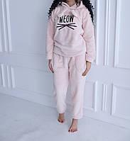 Женская пижама махровая теплая, домашний костюм р.S,M,L