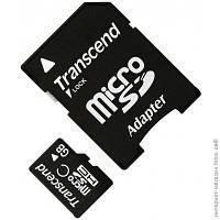 Flash карта Micro SDHC microSDHC 4GB Transcend Class 10 + SD-adapter (TS4GUSDHC10)