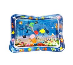Детский водяной коврик аквариум с рыбками развивающий, акваковрик 65х45см, фото 3