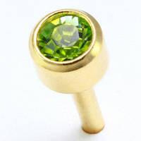 Сережки гвоздики (бижутерия) камень оливковый