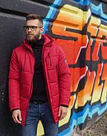 Мужская зимняя куртка бордо Б-6, фото 1