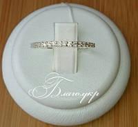 """Кольцо """"Жаклин"""" из серебра 925 пробы с камнями по периметру"""
