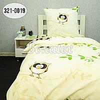 """Детский полуторный комплект постельного белья """"Совы"""" бязь люкс 145х215"""