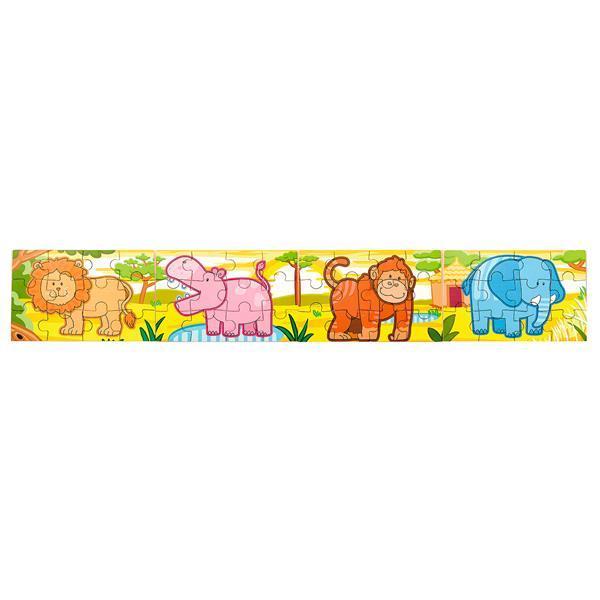 Набор деревянных пазлов Viga Toys Джунгли 4 в 1, 48 эл. (50068VG)