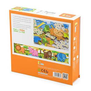 Набор деревянных пазлов Viga Toys Джунгли 4 в 1, 48 эл. (50068VG), фото 2