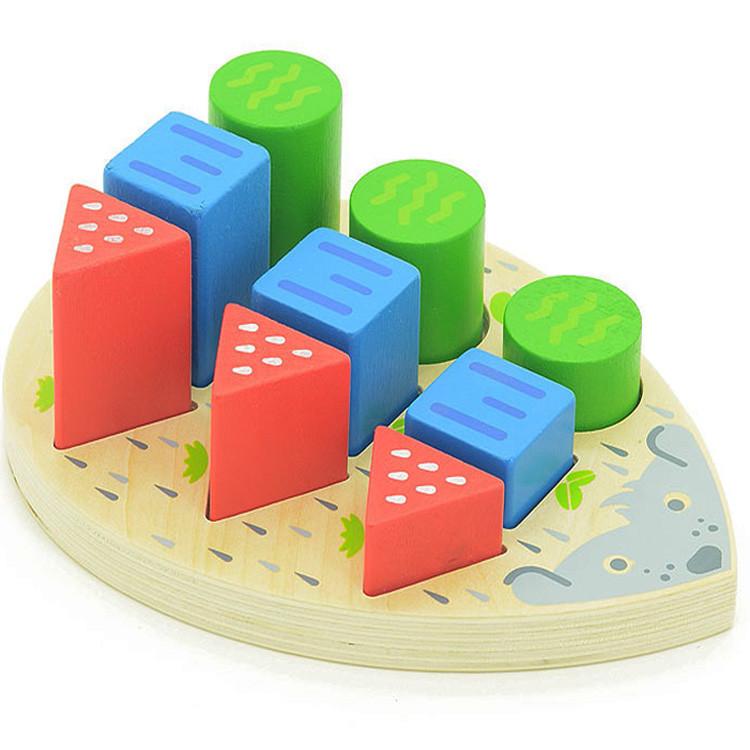 Игра «Формы-ёжик», деревянная игрушка.